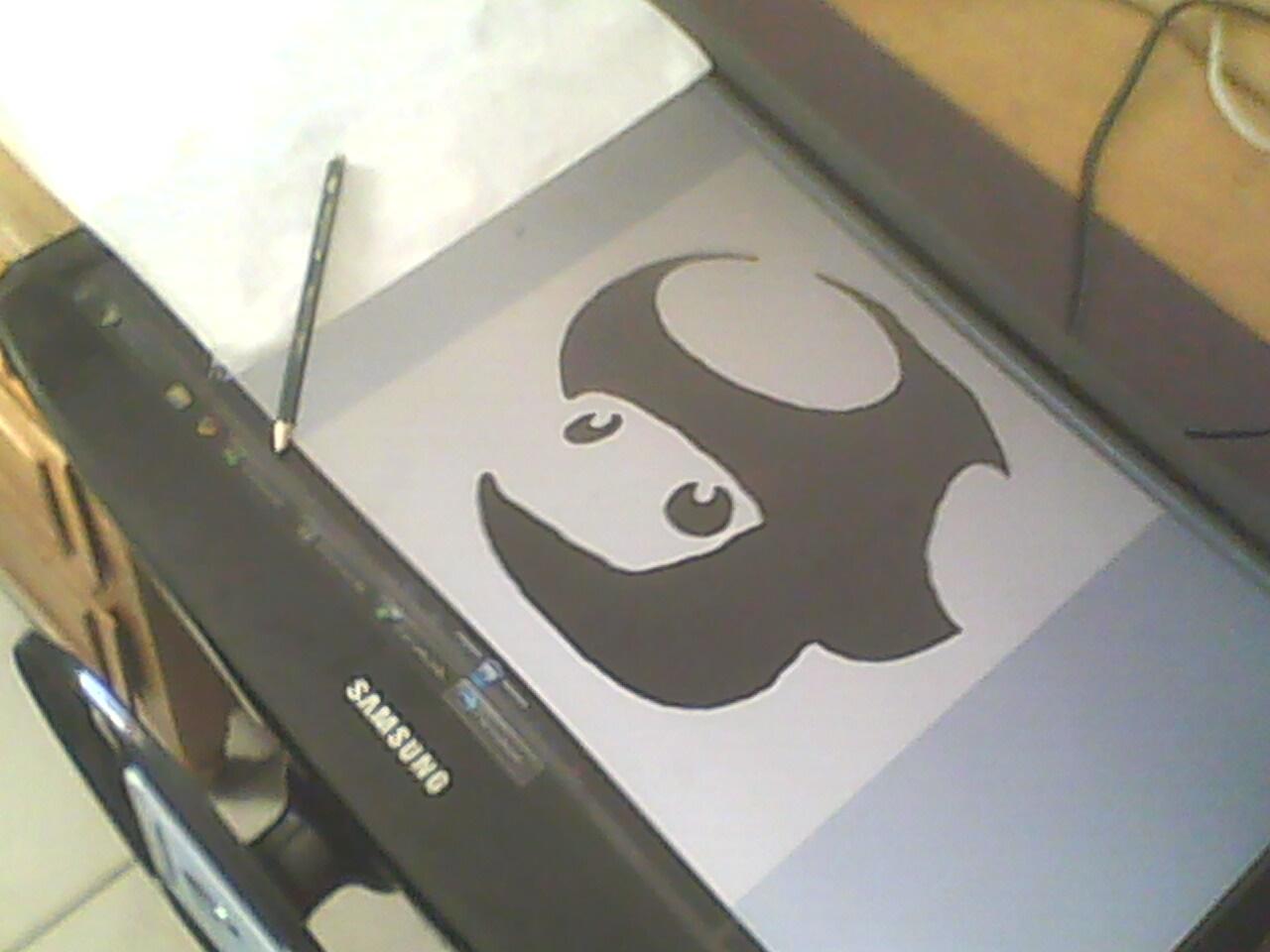 Stencil do cogumelo do Super Mario