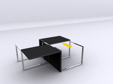 Mesa que vira cadeira