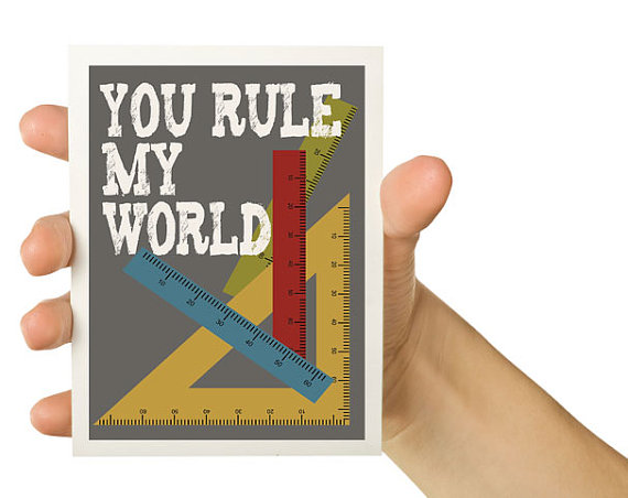 Cartão para namorados nerds - You rule my world