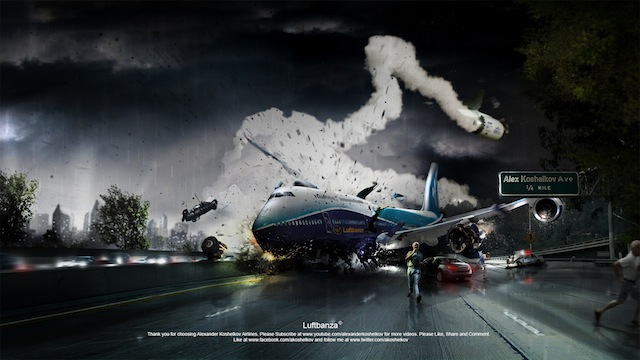 Wallpaper - Desastre aéreo